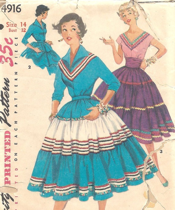 Find This Pin And More On 1950s U0026 1960s Memories By Maw422. Pattern For  Southwestern Dresses, Patio Sets