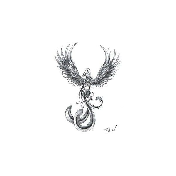Small Phoenix Tattoos ❤ liked on Polyvore featuring accessories, body art and tattoo
