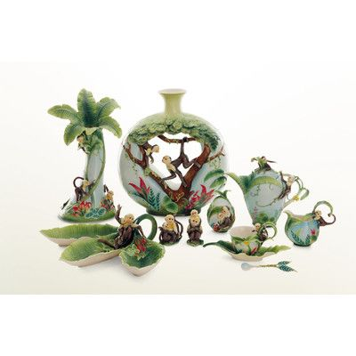 Home By Franz Collection Jungle Fun Porcelain Tea Cup Set