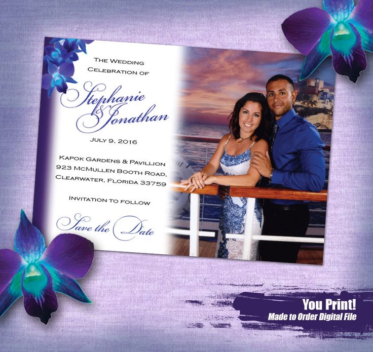 A personal favorite from my Etsy shop https://www.etsy.com/listing/492308496/blue-orchid-save-the-date-printable-save