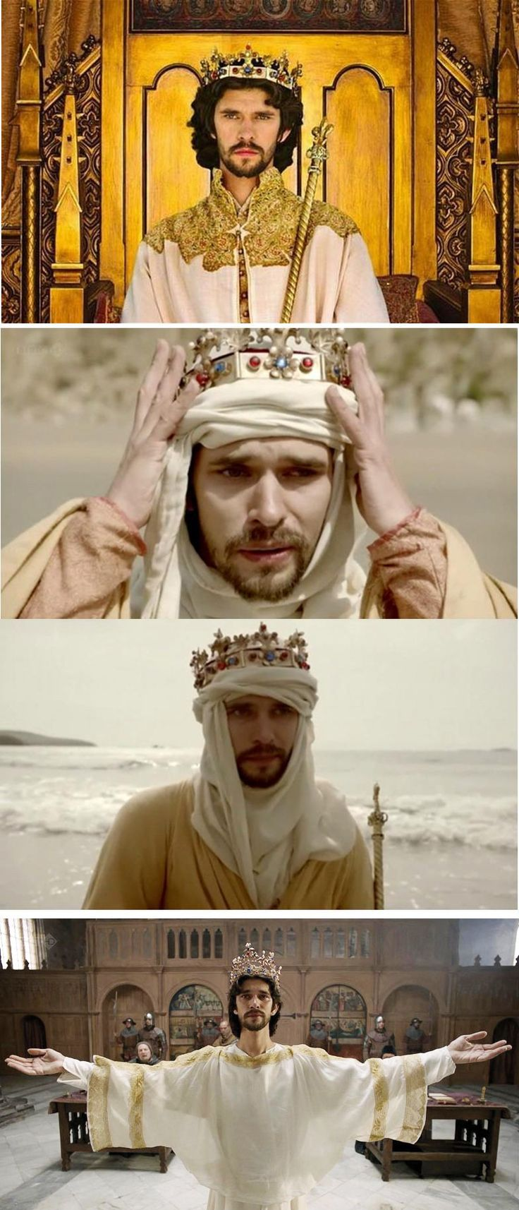 Ben Whishaw as Richard II in BBC series 2012, The Hollow Crown