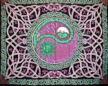 Celtic Sun & Moon Tapestry