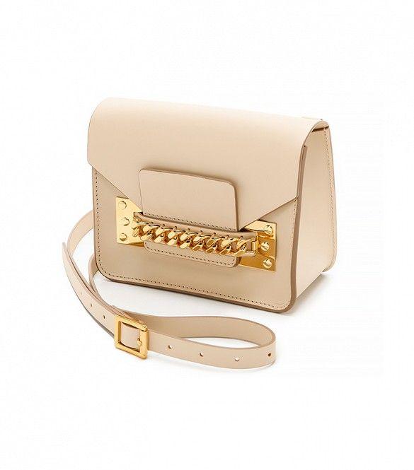 A classic handbag with a bit of edge // Sophie Hulme Chain Mini Envelope Bag
