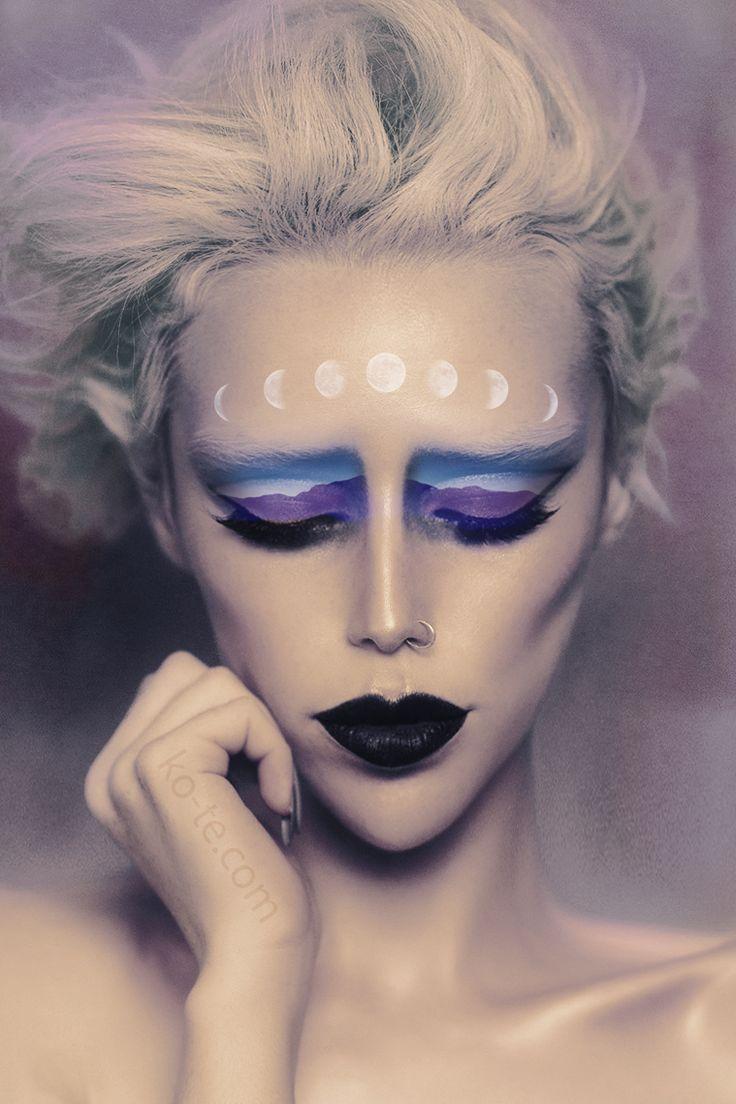 Moon Phases makeup look | http://ko-te.com by /evatornado/ |