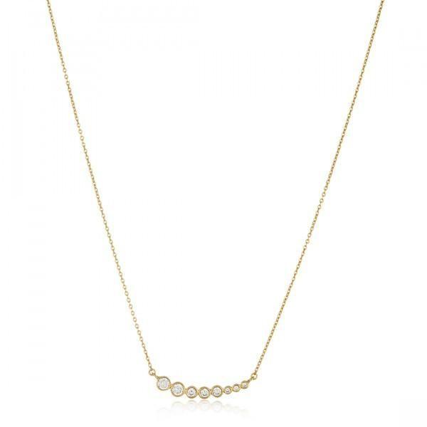 Melinda Maria Julia 18kt gold plated pave necklace