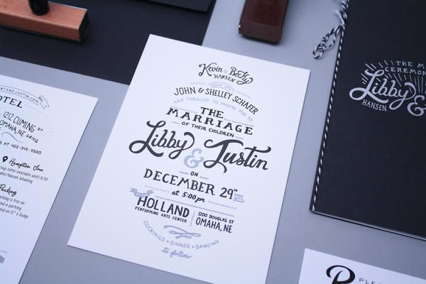 black white text print typography wedding