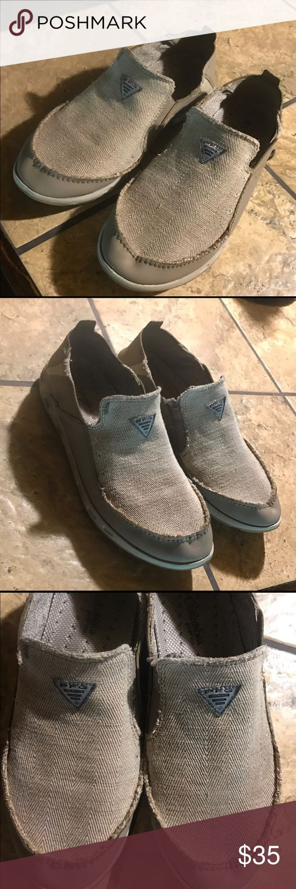 Columbia Sportswear Bahama Vent PFG Slip-ons Columbia sportswear Bahama vent PFG slip on shoes. Worn a handful of times. Khaki color. Worn a handful of times. Size 11.5 Columbia Shoes Loafers & Slip-Ons