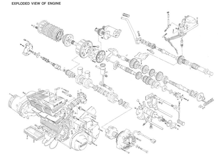 27 Best Motorcycle Engine Exploded View Motores De Moto Vista
