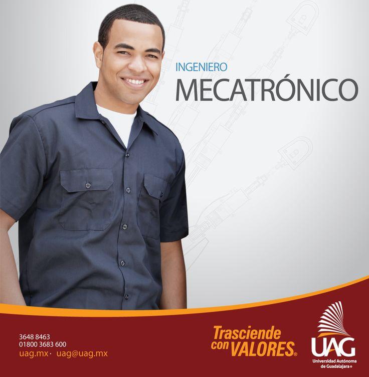 Un Ingeniero Mecatrónico #UAG es un profesionista con amplio conocimiento práctico y multidisciplinario, capaz de desarrollar tecnologías en diferentes campos de la ingeniería.