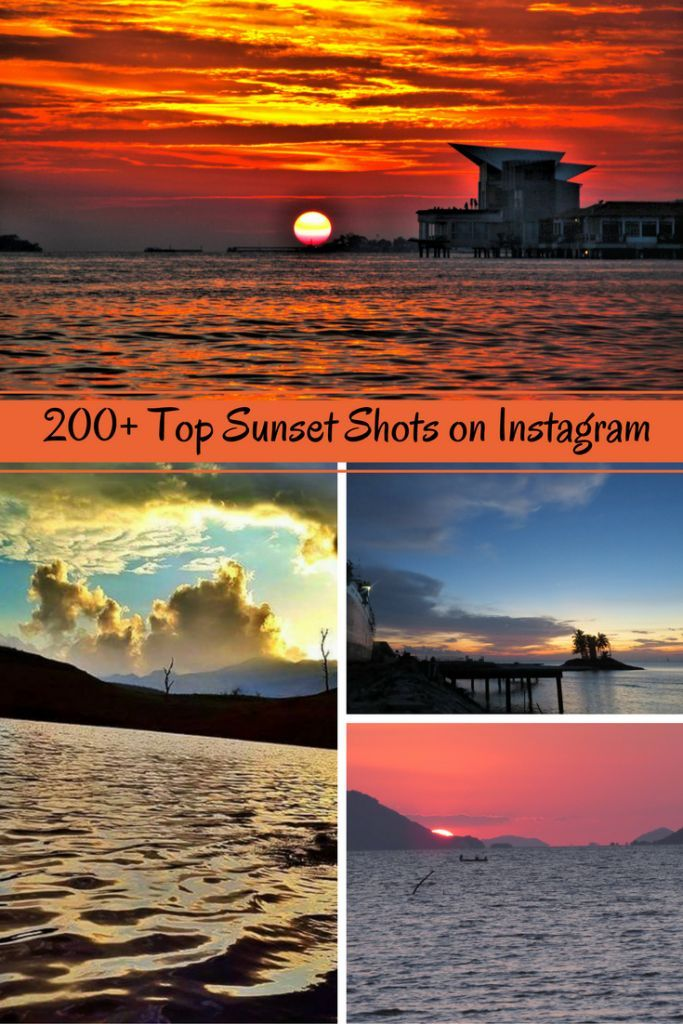 Over 200 amazing sunset pictures of 2016 from travelers, bloggers and photographers on Instagram.