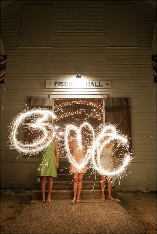 celebrate with sparklers.