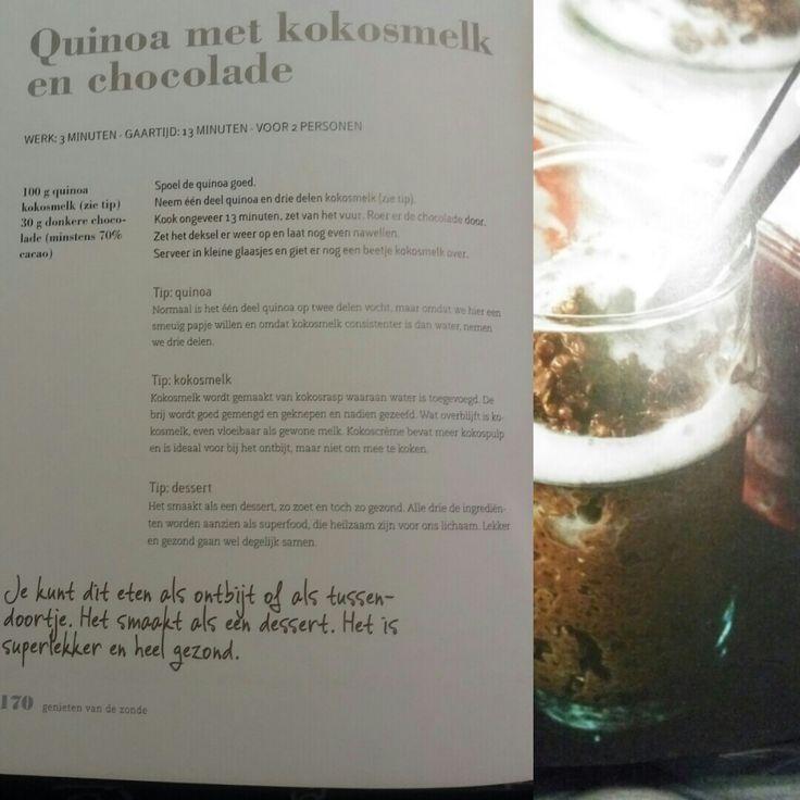 Quinoa met kokosmelk en chocolade