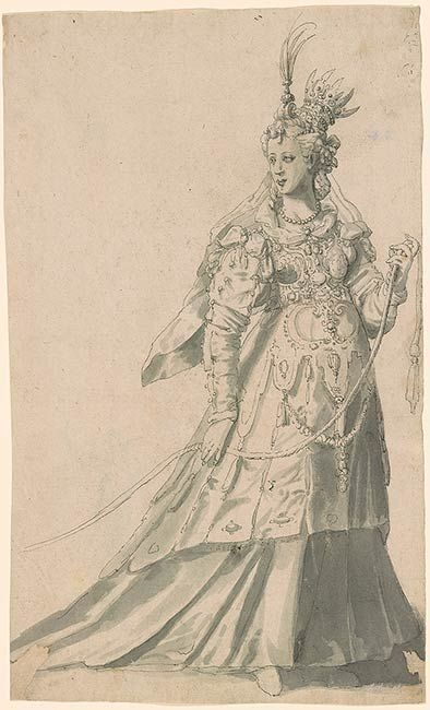 "Inigo Jones, Costume for ""The Masque of Queens"", written by Ben Jonson"