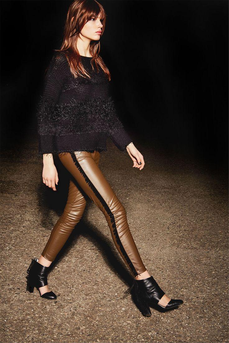 pants with fringe