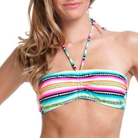 OP Juniors Swim Aztec Bandeau Bikini Top, Women's, Size: Small, Multicolor