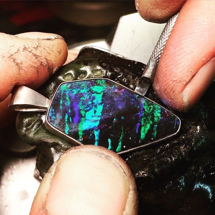 We hand set all of our opal pieces!!! - The Opal and Diamond Factory, JewelleryWatchRetailers, Adelaide, SA, 5000 - True Local