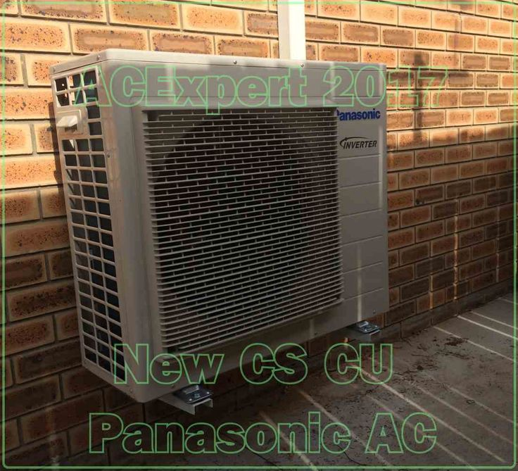 This Panasoinic, first in a series of new installs for 2017. After reviewing our Mitsubishi stats, we've decided to stick with a brand that has less than half the warranty issues.