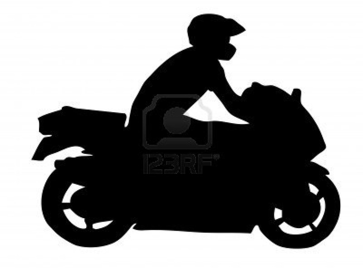 Motorcycle Silhouette Coloring Pages And Stencils
