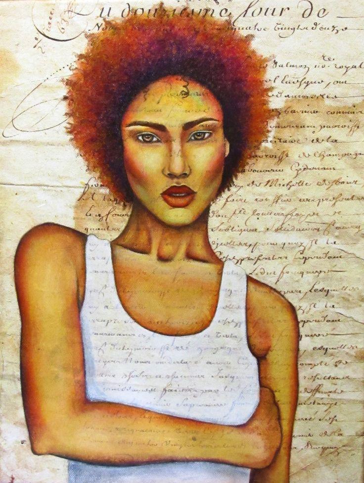 Sofia Filea, www.facebook.com/sofiafileasart portrait, african american, acrylics, soft pastels, canvas