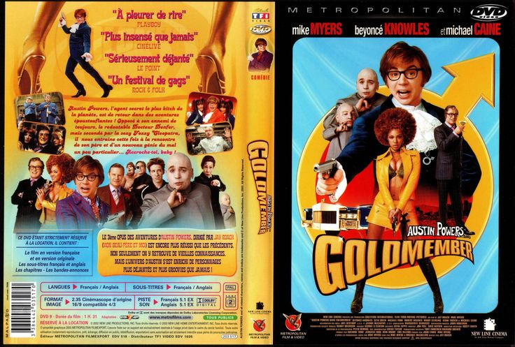 Austin Powers Gold Member DVD | Jaquette DVD de Austin Powers in Goldmember - Cinéma Passion