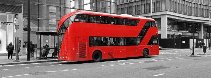 画像素材:851x315(Facebookカバー写真):ロンドンの写真(262) - ロンドンの赤いバス・新ルートマスター
