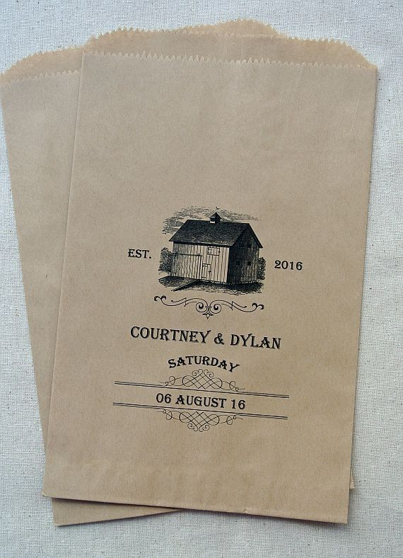 Country Wedding | Rustic Wedding | Wedding Favor Bags | Candy Buffet Bags | by abbey and izzie designs