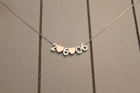 Tiny Matte Finished Number Necklace You Choose by ashabbypurpose