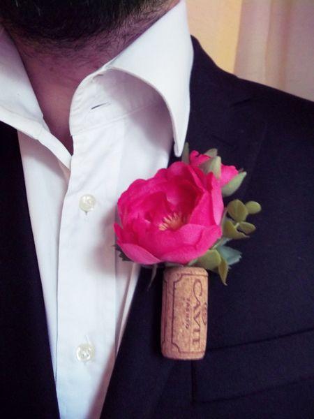 Men's Wedding Accessories – Wine Lovers - Groom's Boutonniere  #vintagewedding #groom #groomflowers #bohowedding #winelovers #winewedding