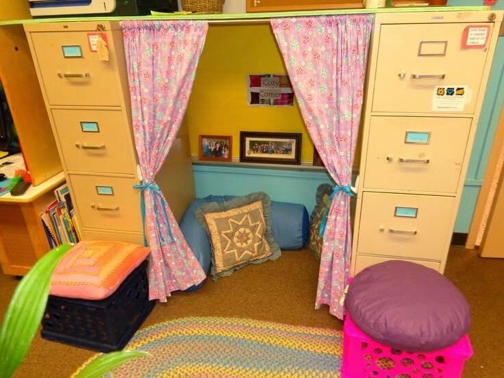 Best 25 modern classroom ideas on pinterest preschool for How to make a reading corner in your room