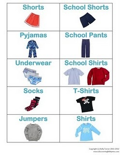 Free labels to help organize boys clothing
