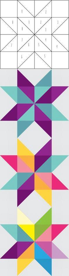 Quilt Patterns 4 Different Fabrics : 195 beste afbeeldingen over ideeen patchwork op Pinterest - Quilt, Plusdeken en Pleinen