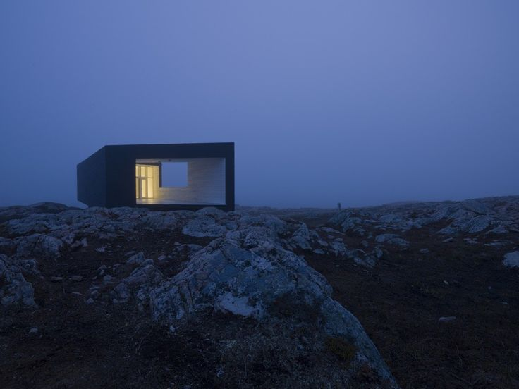 the shorefast foundation and the fogo island arts corporation has commissioned todd saunders to design a series of six artists studios on various fogo