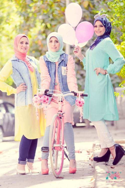 spring hijab fashion trend, Cute pastel hijab for spring http://www.justtrendygirls.com/cute-pastel-hijab-for-spring/