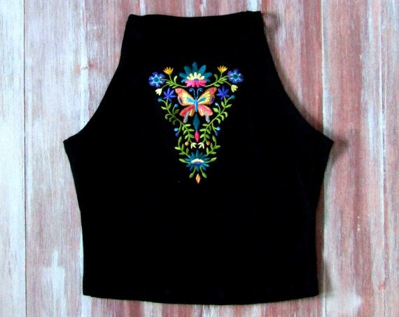 Boho Floral Crop Top-Music Festival Crop by ZellyaDesigns on Etsy