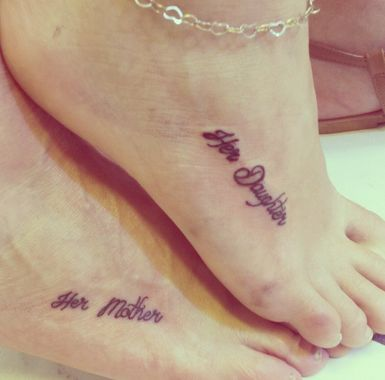 Love this mini mother daughter tattoo! Check out more tattoo ideas! http://thestir.cafemom.com/beauty_style/187679/21_mother_daughter_tattoos_that/135205/all_about_her/10