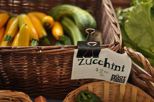 zucchini at Root Mass Farm stand