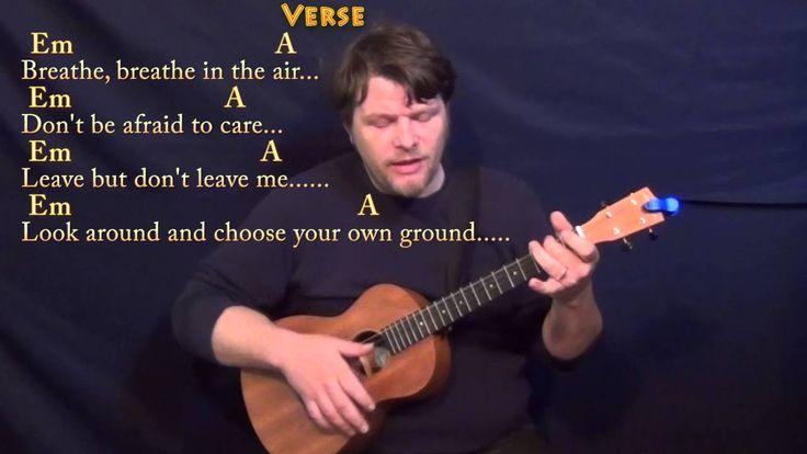 Breathe (Pink Floyd) Bariuke Cover Lesson with Chords/Lyrics
