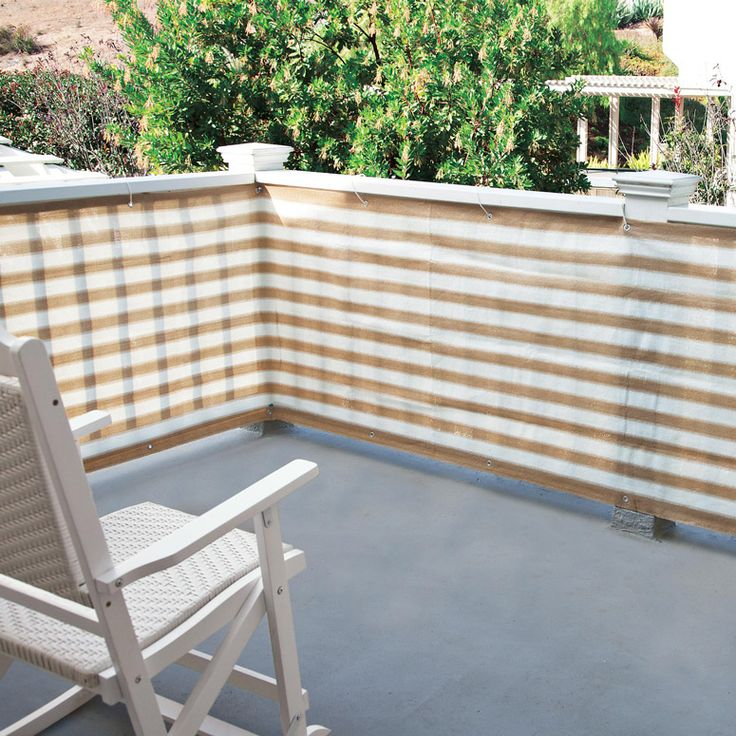 Privacy screen for deck porch and patio railings porch for Outdoor deck privacy ideas