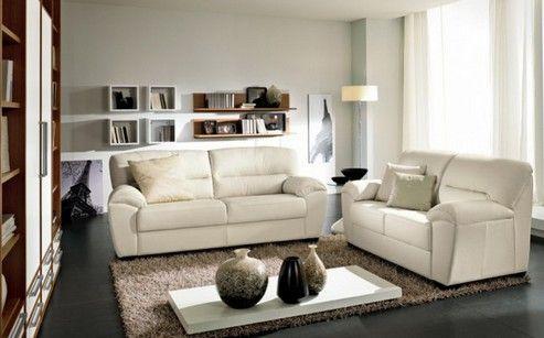темный пол и светлая мебель