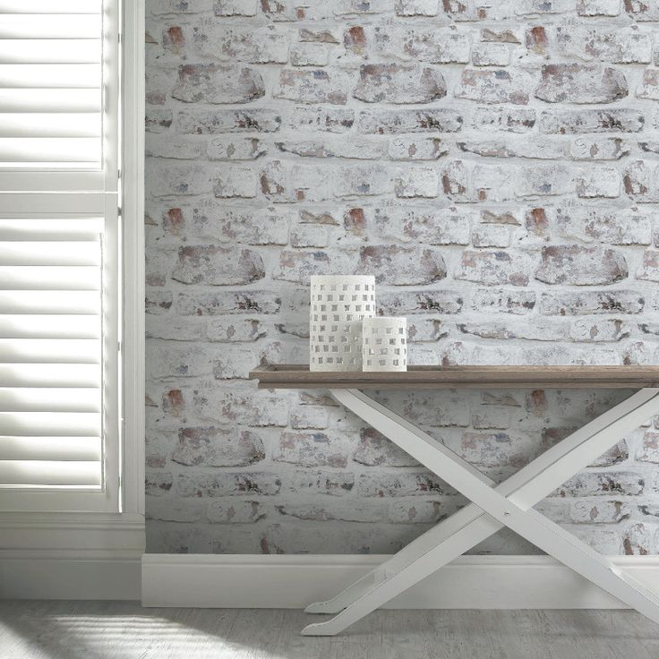 The Arthouse Opera White Washed Brick Wallpaper Is Perfect For Creating The Urban Industrial Trend Or