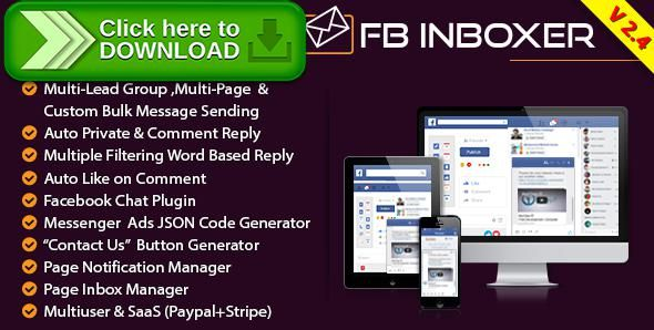 [ThemeForest]Free nulled download FB Inboxer - Master Facebook Messenger Marketing Software from http://zippyfile.download/f.php?id=43480 Tags: ecommerce, auto private reply, auto reply, auto response, broadcast message, Bulk Message, facebook, facebook chat, facebook inbox, facebook marketing, Facebook Messenger, facebook notification, lead generator, marketing, multi user, saas