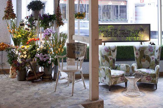 Inspirado na natureza, com cara de jardim, o restaurante The Folly é encantador. Um verdadeiro santuário urbano, no meio da caótica Londres.
