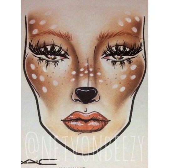 Deer costume makeup More