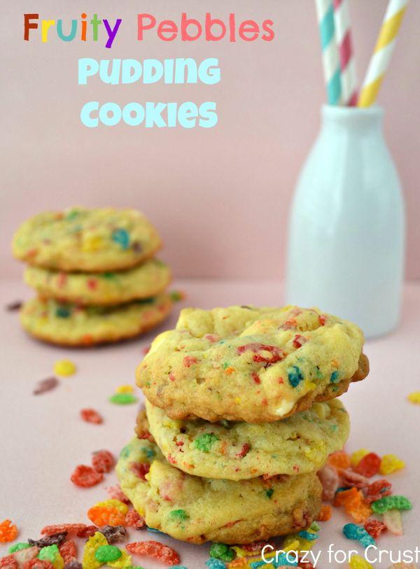 Fruit Pebbles Pudding Cookies...huge hit!