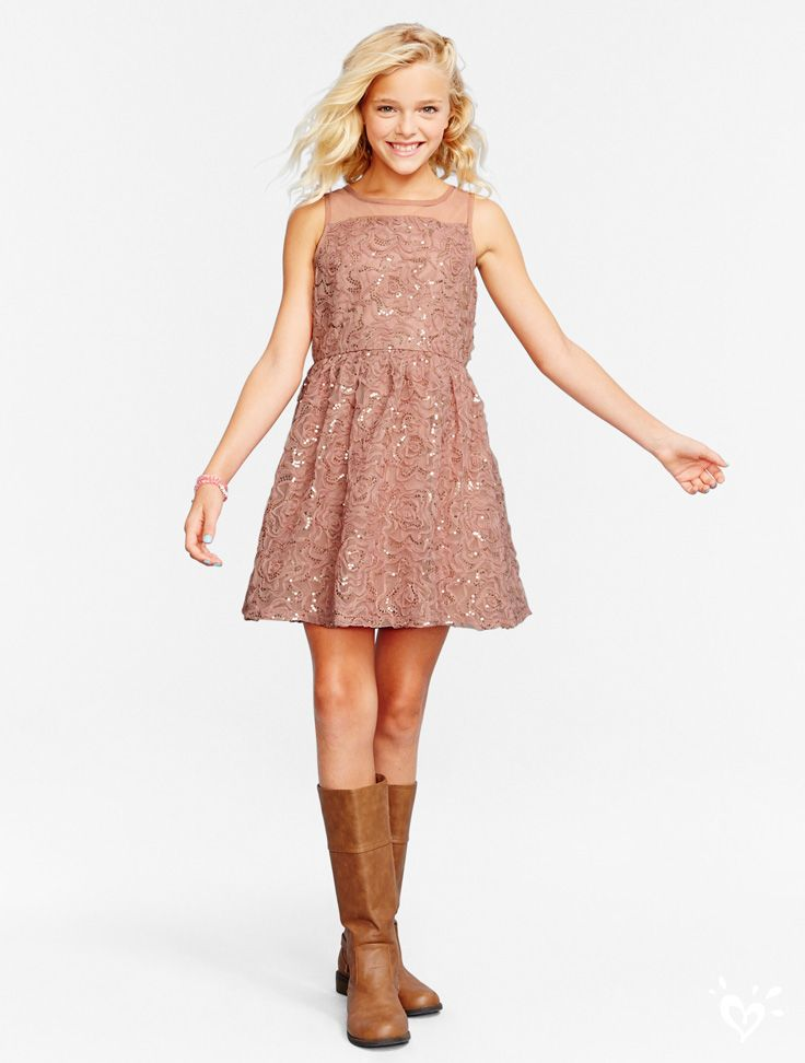 This pale pink shimmering silhouette is perfect for every something-special holiday moment!