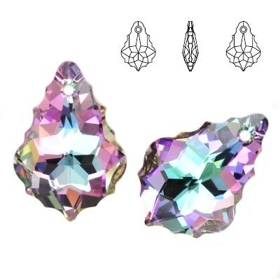 6090 Baroque 22mm Vitrail Light  Dimensions: 22,0 mm Colour: Crystal Vitrail Light 1 package = 1 piece