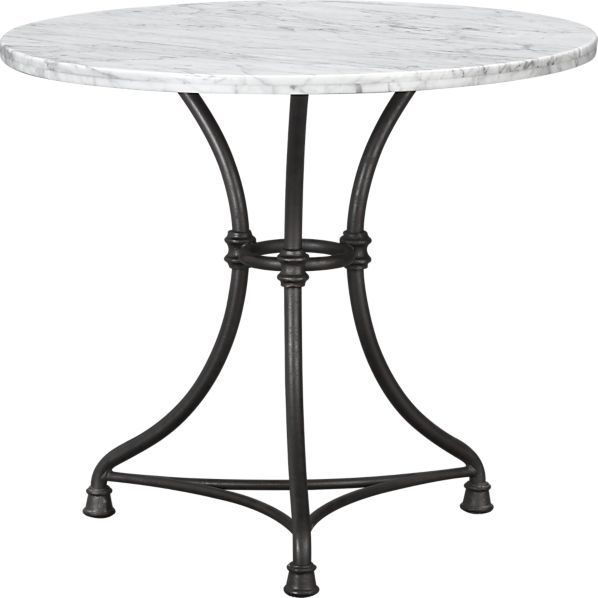 French bistro table with marble top from C - similar to RH version