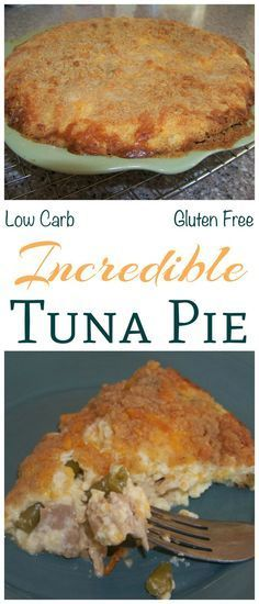 A savory low carb tuna pie recipe that made with cheese, green beans, and low carb flour. Creamy and filling, this tuna fish pie makes a great main dish. Use almond flour for gluten free.