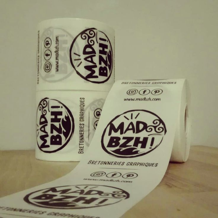 Bobines de stickers MAD BZH arrivées ! #madbzh #aaska #bretonneriesgraphiques #boutique #humour #logo #stickers #bobine #communication