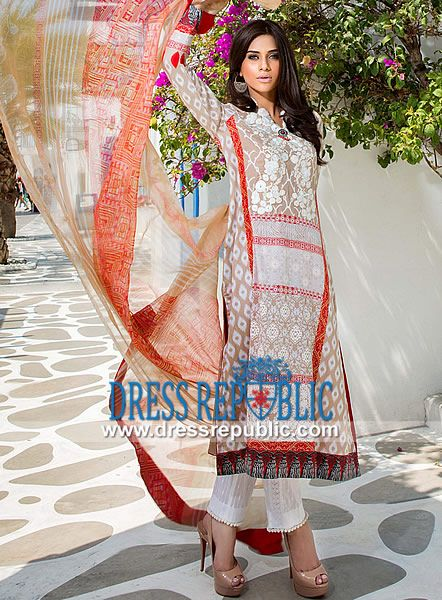 Mahnoush Spring Summer Lawn Collection 2014 Catalogue  Designer Lawn Prints 2014 with Prices: Mahnoush Embroidered Lawn Collection 2014 at Affordable Prices. by www.dressrepublic.com